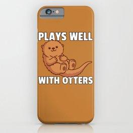 Otter Water Marten Fish Otter Dwarf iPhone Case