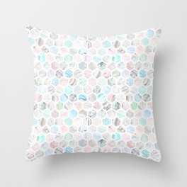 Honeycomb marble Throw Pillow