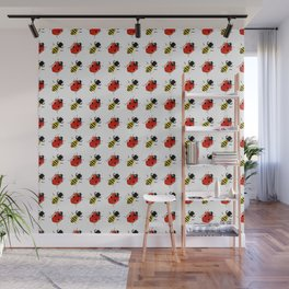 Lady Bugs Honey Bees Wall Mural