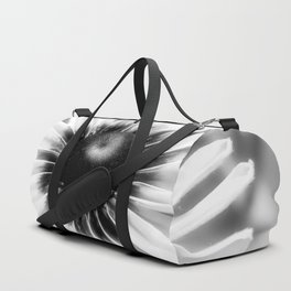 Flower - Black & White Duffle Bag
