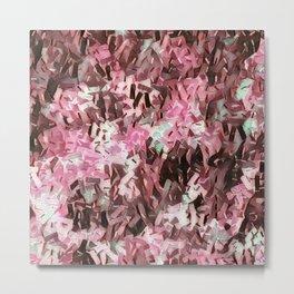 Cranberry Confetti Waves Metal Print