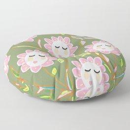 Springy Ladyflowers Floor Pillow