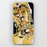 c3po iPhone & iPod Skins featuring C3PO by Laura-A