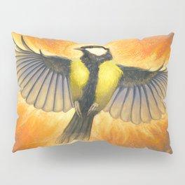 Phoenix tit bird Pillow Sham