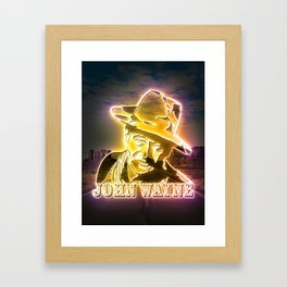 Wayne neon art Framed Art Print