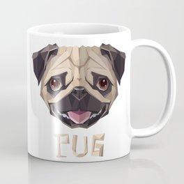 Triangular Geometric Pug Head Coffee Mug
