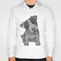 jack russell Hoodies featuring Jack Russell by DiAnne Ferrer