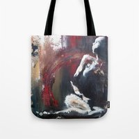 cassandra jean Tote Bags featuring Cassandra by Andrea Creates