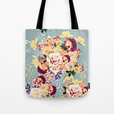 Roses and lilac. Beautiful victorian design Tote Bag
