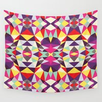 disco Wall Tapestries featuring Disco Tribal by Beth Thompson