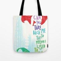 ariel Tote Bags featuring ariel by Sara Eshak