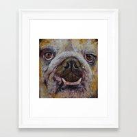 bulldog Framed Art Prints featuring Bulldog by Michael Creese