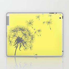 Bright Sunny Yellow + Gray Dandelion Laptop & iPad Skin