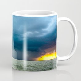 Regeneration - Storm Strengthens With Amazing Color in Texas Coffee Mug