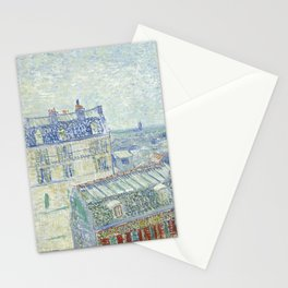 Van Gogh - View from Theo's Apartment, 1887 Stationery Cards
