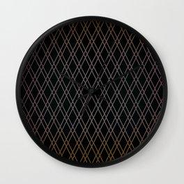 Black Diamonds. Wall Clock