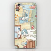 nursery iPhone & iPod Skins featuring Nursery by Bluedogrose