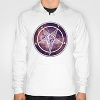 pentagram Hoodies featuring Pentagram Galaxy by Parin Cashmony