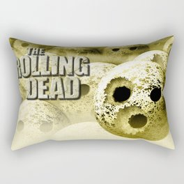 The Rolling Dead - Zombie Themed Bowling Material Rectangular Pillow