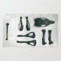 bones Area & Throw Rugs featuring Bones by Carrianne Bullard