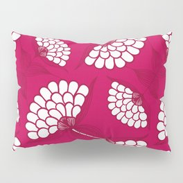African Floral Motif on Magenta Pillow Sham