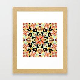 Suzani Textile Pattern Framed Art Print