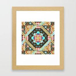Bricolage Patchwork Quilt (printed) Framed Art Print