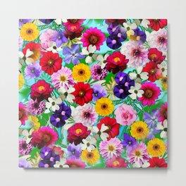 Garden in Bloom Metal Print