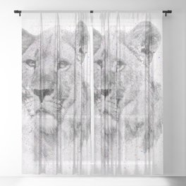 Leo Just Wants To Have Fun Sheer Curtain