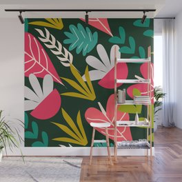 Tropical pink greenhouse Wall Mural