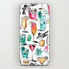 Summer Cocktail Pattern - Original Colors iPhone & iPod Skin