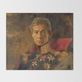 Sir Ian McKellen - replaceface Throw Blanket