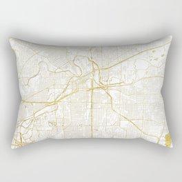 Fort Worth Map Gold Rectangular Pillow