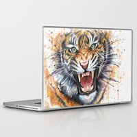 kpop Laptop & iPad Skins featuring Tiger by Olechka