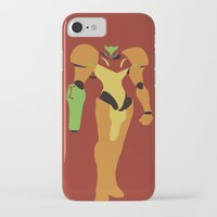 metroid iPhone & iPod Cases featuring Metroid - Minimalist by Adrian Mentus