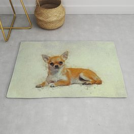 Chihuahua Art Rug