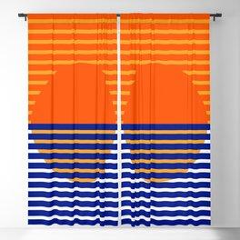 Orange Split Sun Blackout Curtain