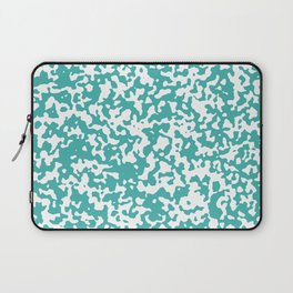 Small Spots - White and Verdigris Laptop Sleeve