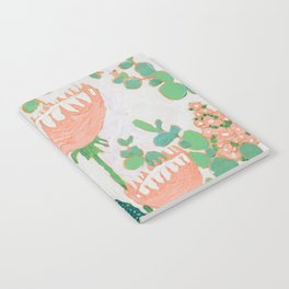 Proteas and Birds of Paradise Painting Notebook