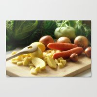 vegetable Canvas Prints featuring Vegetable stew by Tanja Riedel