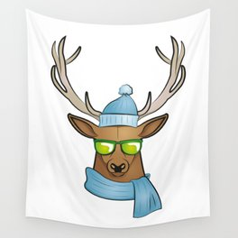 cool stag Wall Tapestry