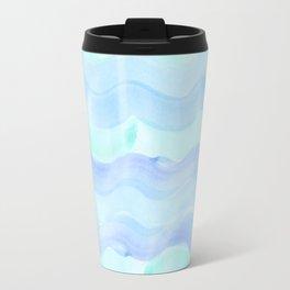 water color waves Travel Mug