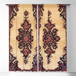 Malayer Hamadan West Persian Rug Print Blackout Curtain