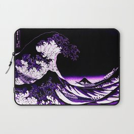 The Great Wave : Purple Laptop Sleeve
