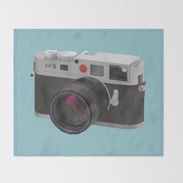 Leica M9 Camera polygon art Throw Blanket