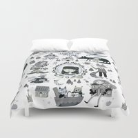 once upon a  time Duvet Covers featuring Once Upon a Time  by ilana exelby