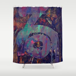 disquiet thirty (abyssus abyssum invocat) Shower Curtain
