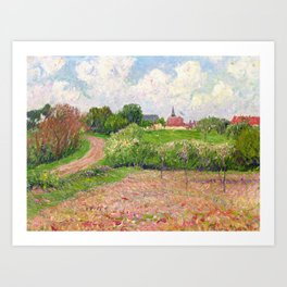 Breton Landscape, Trees and Flowers, 1909-10, by Henri Moret (1856–1913) (Art Paintings) Art Print