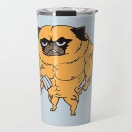 Buff Pug Travel Mug