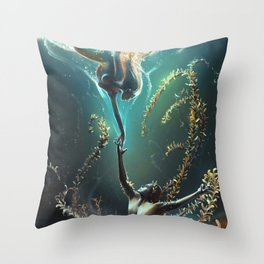 Underwater ballet Throw Pillow